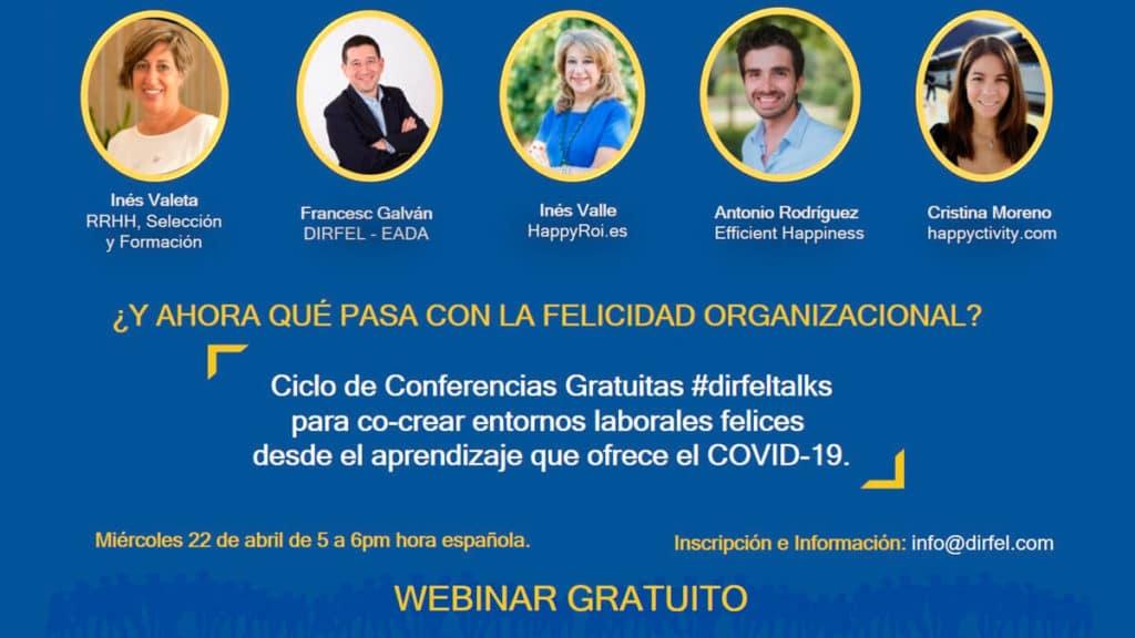 webinar grratuito dirfel Felicidad Organizacional covid-19